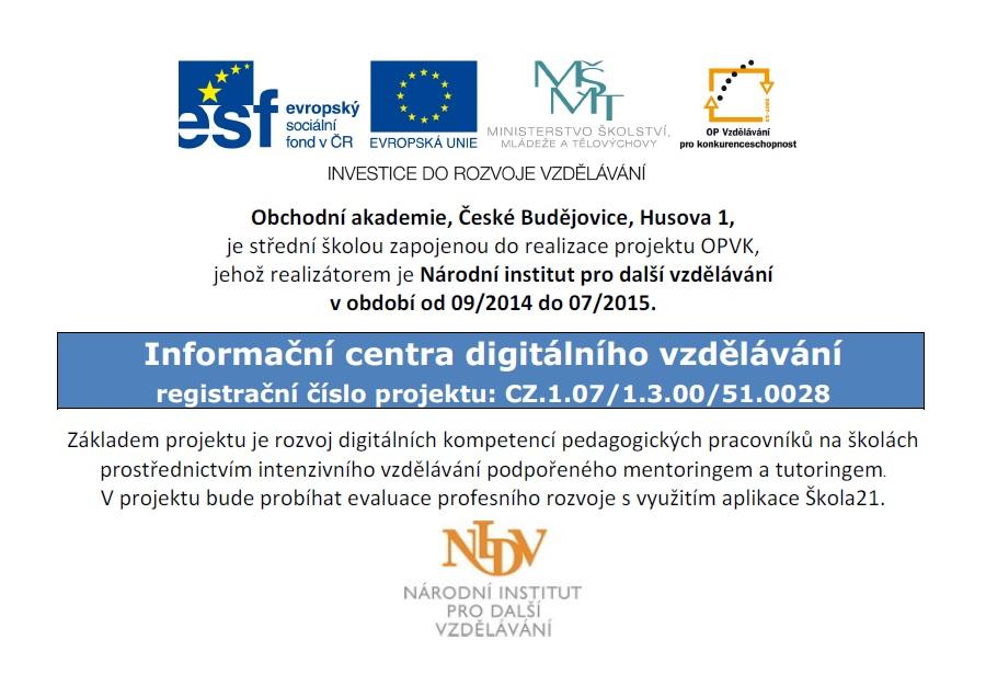 Informační centra digitálního vzdělávání