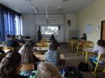 Ve třídě při prezentaci