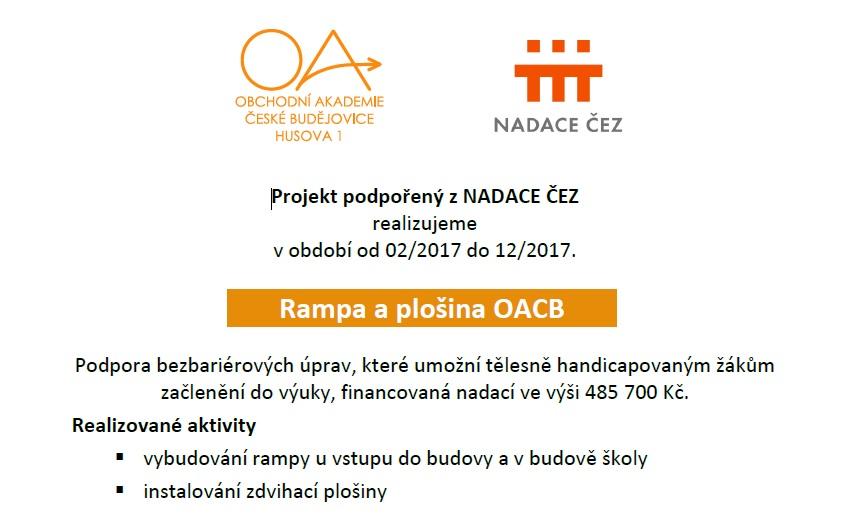 Projekt NADACE CEZ