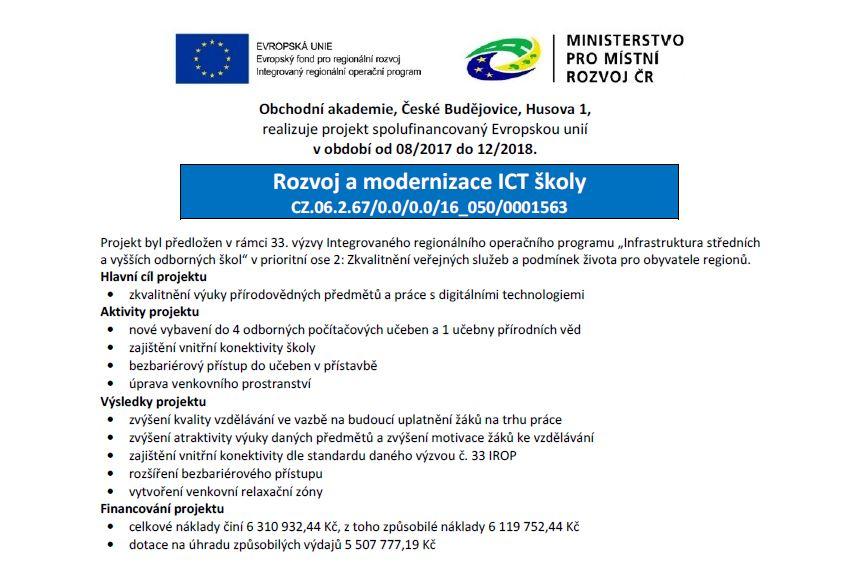 Rozvoj a modernizace ICT školy
