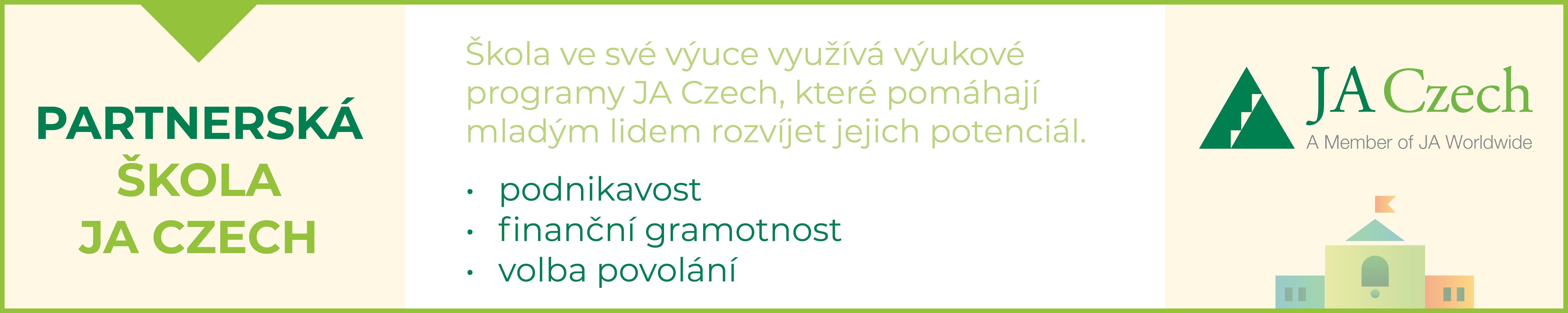 Partnerská škola JA Czech